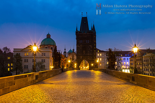 Dawn on Charles' Bridge