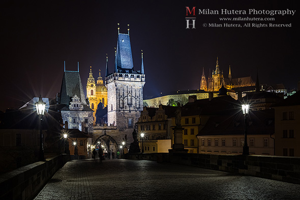 Charles Bridge Towers and Prague Castle