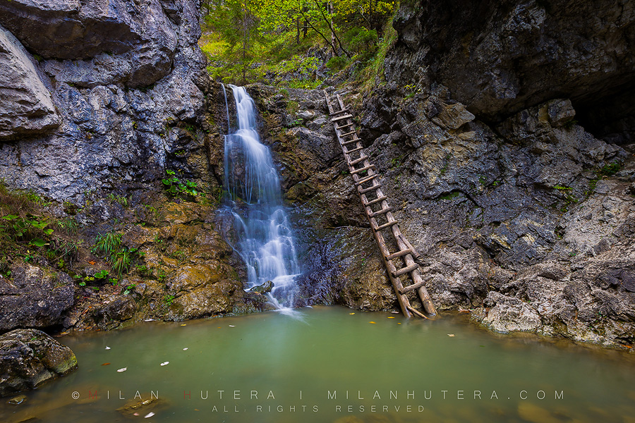 Waterfall and Ladder