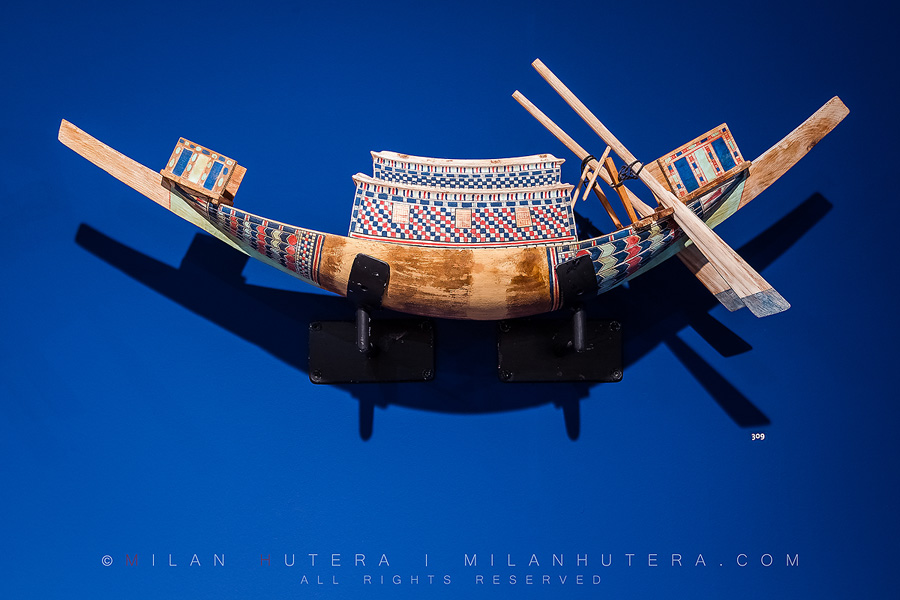 One of Tutankhamun's boats (a scaled down model)