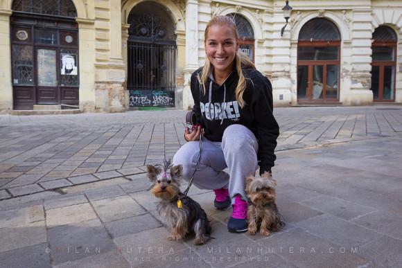 Dominika Cibulkova and her Dogs