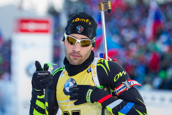 Martin Fourcade Misses One Target