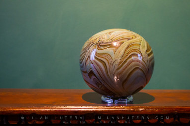 An unusually shaped Murano Glass on display at Museo del Vetro