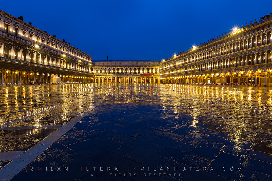 Rainy dawn at Piazza San Marco, Venice