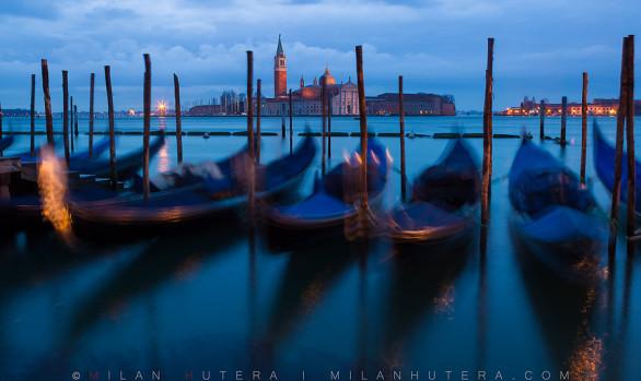 San Giorgio Maggiore and Gondolas, Venice, Italy
