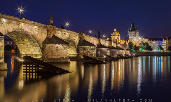 Charles Bridge Twilight, Prague, Czech Republic