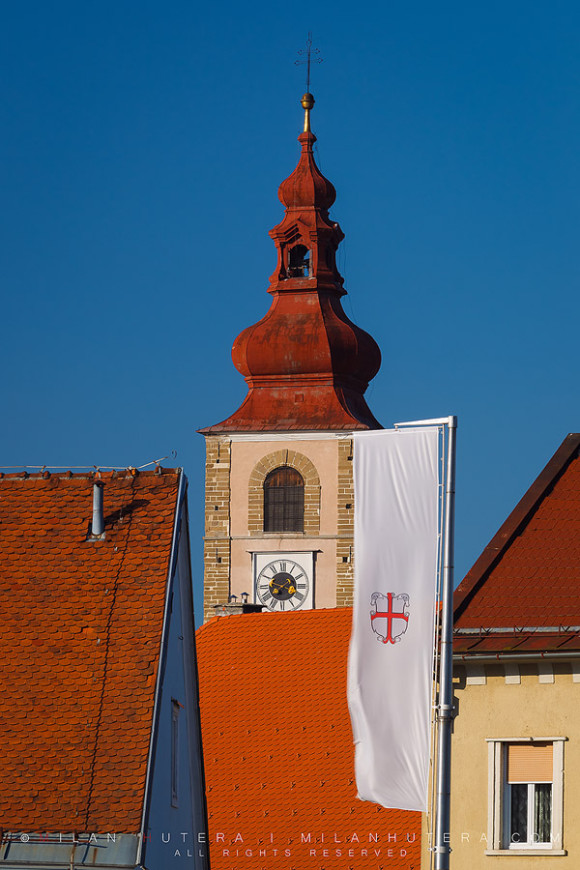 Saint George Tower and Coat of Arms, Ptuj, Slovenia