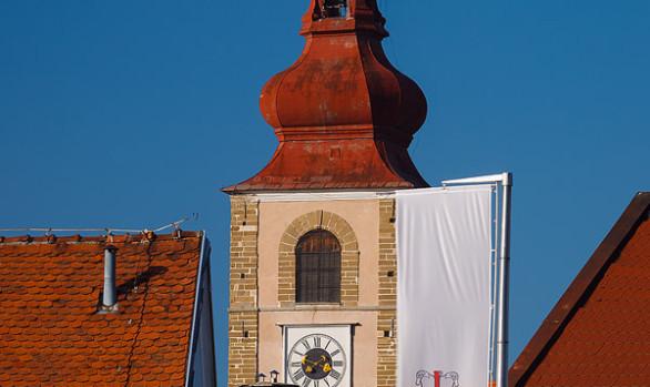 Saint George Tower and Coat of Arms, Ptuj, Slovenia