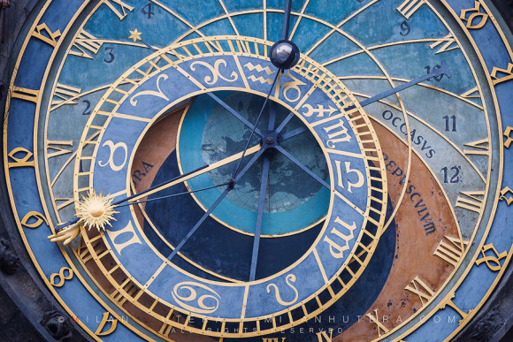The face of Astronomical Clock, Prague, Czech Republic