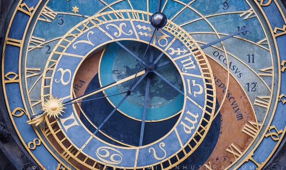 The face of Astronomical Clock, Prague, Czech Republic