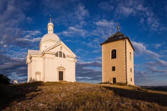 Evening on the Sacred Hill, Mikulov, Czech republic