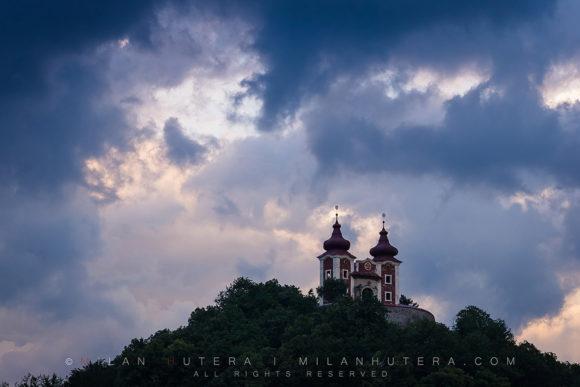Banska Stiavnica Calvary Summer Storm, Slovakia