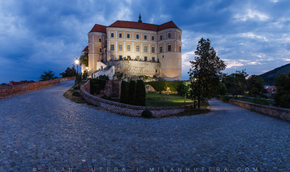 Mikulov Castle Dawn, Moravia, Czech Republic