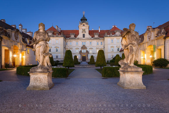 Valtice Castle Dawn, Moravia, Czech Republic