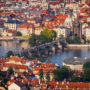 Charles Bridge from Petriny Tower, Prague, Czech republic