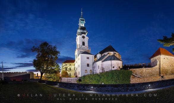 Evening at Nitra Castle, Slovakia
