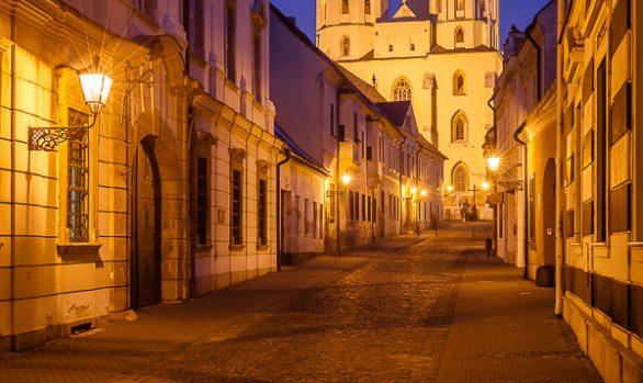 Basilica of Saint Nicolas Evening, Trnava, Slovakia
