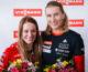 Anastasiya Kuzmina and Paulina Fialkova met the press at Viessmann Slovakia Headquarters after their successful appearances at Pyeongchang 2018 Winter Olympic Games.