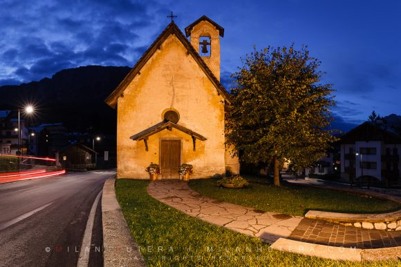 Chiesa di San Francesco Dawn, Cortina d'Ampezzo, Italy