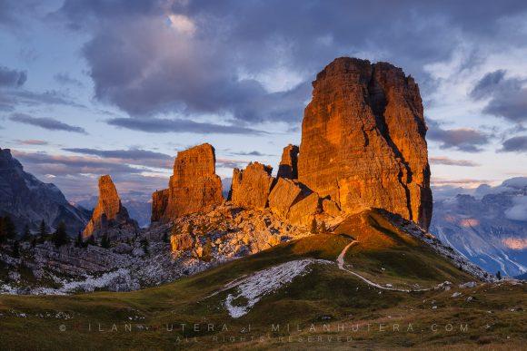 Cinque Torri Sunset, Dolomites, Italy